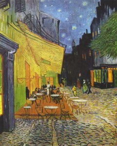 Café Terrace at Night, 1888. By Vincent Van Gogh