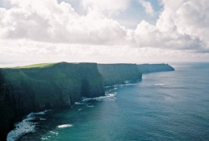 The Cliffs of Moher, in County Clare, Ireland.