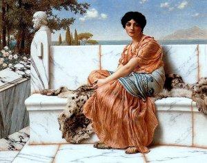 Days of Sappho, by John William Godward. 1904