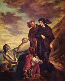 Hamlet and Horatio, by Eugène Delacroix. 1839