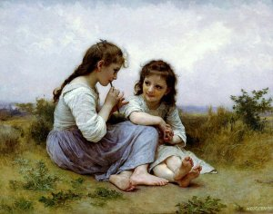A Children's Idyll, by William-Adolphe Bouguereau. 1900