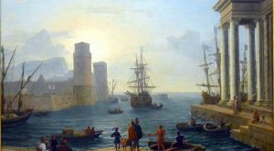The Embarkation of Odysseus. By Claude Lorrain. 1646.