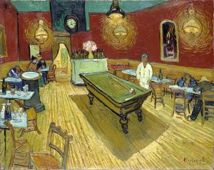The Night Cafe, by Van Gogh. 1888. Yale University Art Gallery