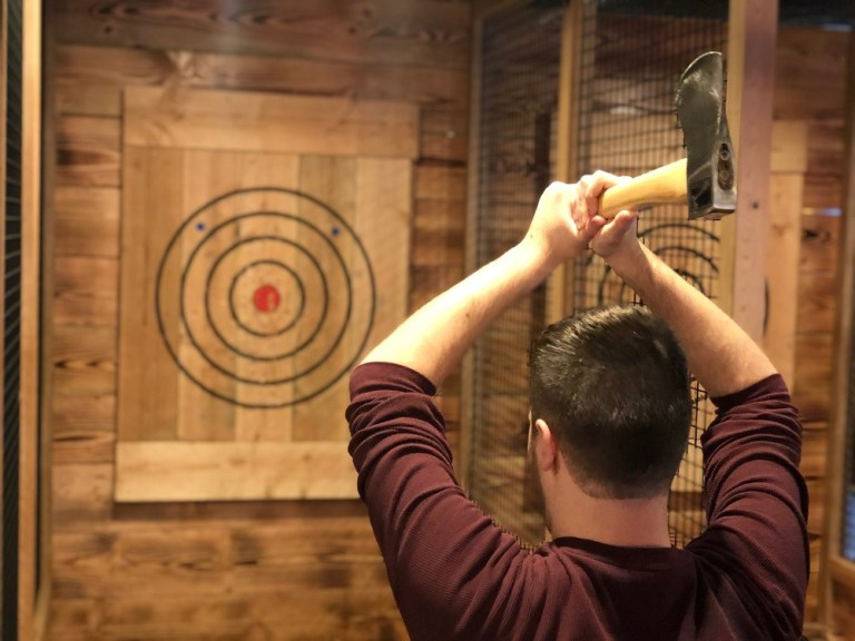 Bury the hatchet: Ax throwing comes to Spins Bowl in Poughkeepsie, Wappingers Falls