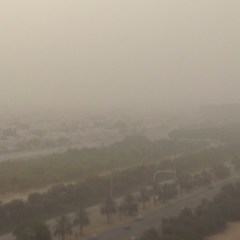 View from the room - sandstorm.