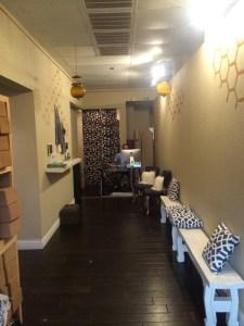 Blue Hone Yoga Waiting Area