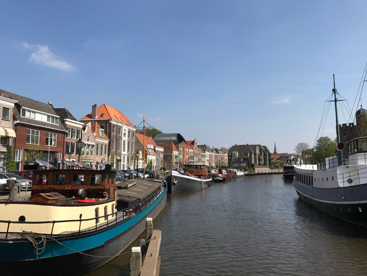 River boats in Zwolle Amsterdam