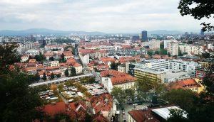 ljubljana slovenia view from castle