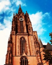 frankfurt germany imperial cathedral saint bartholomew