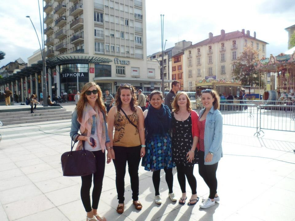 With the other language assistants on my year abroad in Pau, France