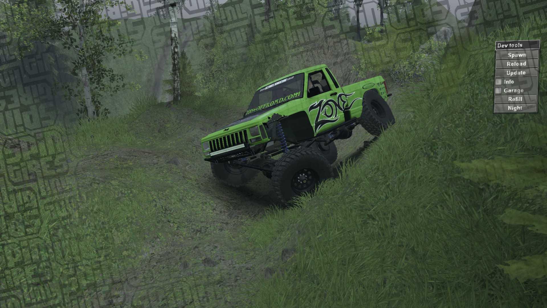 KentBobo Spintires Map - Jeep WJ
