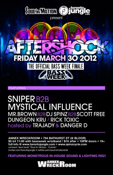 Soul In Motion and TorontoJungle - Bass Week Official Finale - Aftershock