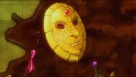 Le masque de pierre apparent dans l'opening de Hunter x Hunter