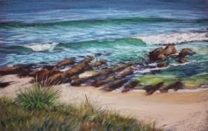 "W Margaret Moran ""Yabbara Rocks"" pastel 28 x 38 cm"