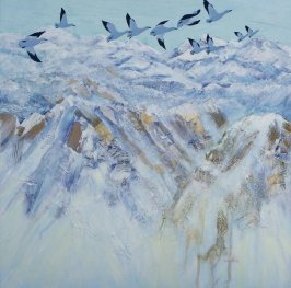 "F Trish Collins ""Going North"" 60 x 60 cm"