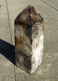 "Z Anneke Paijmans ""Obelisk"" ceramic 32 x 15 x 15 cm"