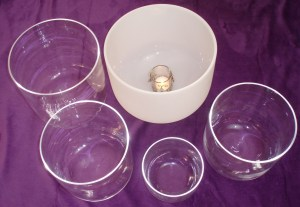 Crystal Singing Bowls ready for a Soundbath in Pakefield and Lowestoft