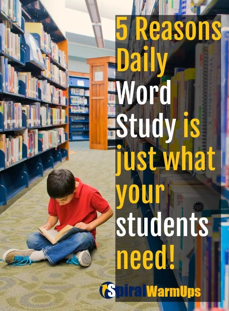 Your students need word study daily. Here are 5 reasons why and tips on how to integrate it without much effort!