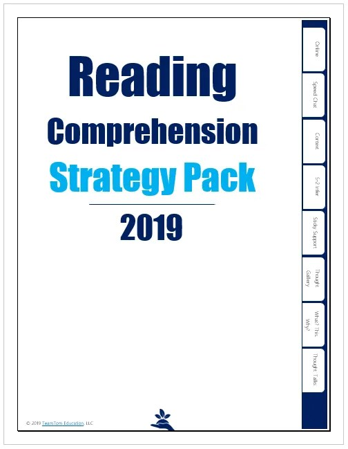 Comprehension Instructional Strategy Pack 2019 - TeamTom Education