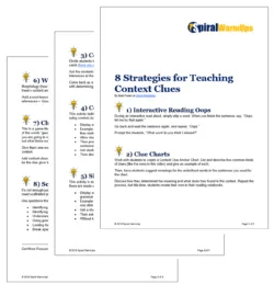 8 Context Clues Strategies Free PDF Download for Teachers at Spiral WarmUps