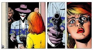 Written by Alan Moore and illustrated by Brian Bolland.