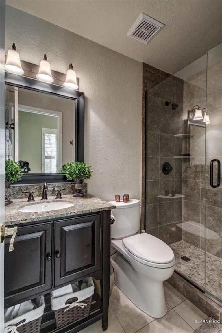 53+ Amazing Modern Farmhouse Small Master Bathroom Ideas on Modern Small Bathroom  id=49628
