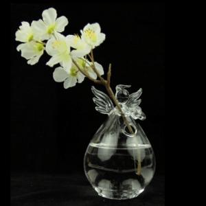 Ange vase en verre - 8x 10 cm
