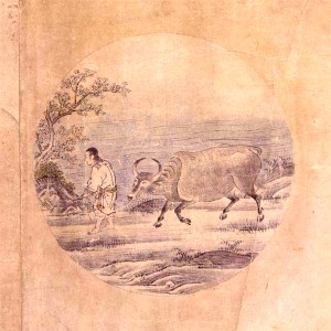 Kuòān Shīyuǎn's Ten Bulls 5: Taming the Bull