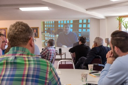 Bishop Marty Opens the Workshop (via a recorded video) St. James' Springfield. February 19, 2017 Image credit: Gary Allman