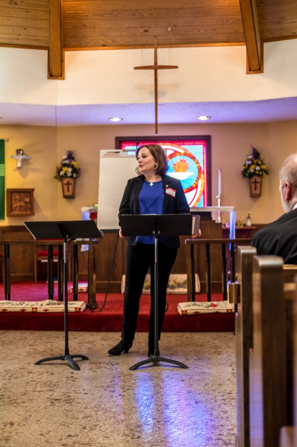 Evangelism workshop led by Carrie Boren Headington, Episcopal Diocese of Dallas. St. James' Springfield. February 19, 2017 Image credit: Gary Allman
