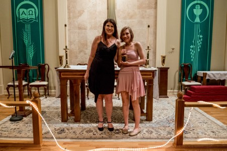 Youth Awards at the Bishop's Ball 2017. Alexandra Connors presented an Outstanding Youth award to Isabelle Morrison Image credit: Gary Allman