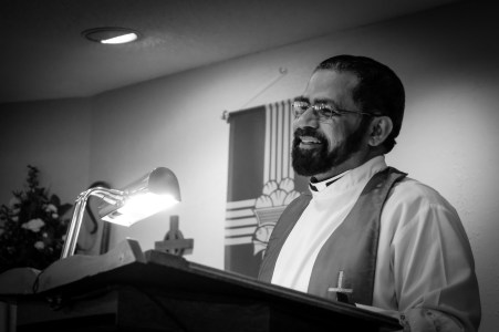 Fr. Jos Tharakan was installed as the new rector at St. James\' Episcopal Church, Springfield, MO on December 1, 2017. Image credit: Gary Allman