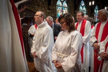 On Saturday, September 15, 2018, Kim Taube and Warren Swenson were ordained in to the priesthood at St. Paul\'s Episcopal Church, Kansas City, Missouri. Image credit: Gary Allman