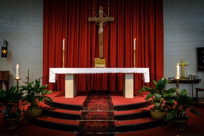 Altar at St. Augustine's Episcopal Church, Kansas City, Missouri. Image: Gary Allman