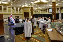 Friday, November 2. Ordination to the diaconate of Bradley Heuett, Jeff Hurst, Chandler Jackson, Sean Kim and, Marco Serrano at the opening Eucharist of the 129th Convention of The Diocese of West Missouri. Image: Gary Allman