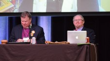 Bishop Marty and Diocesan Secretary Curtis Hamilton. Image: Donna Field