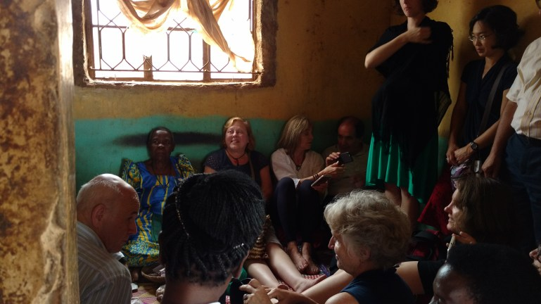 Visit to a Ugandan traditional healer. Image credit: Julia Taylor