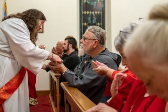 First Eucharist as a Deacon. Image credit: Gary Allman