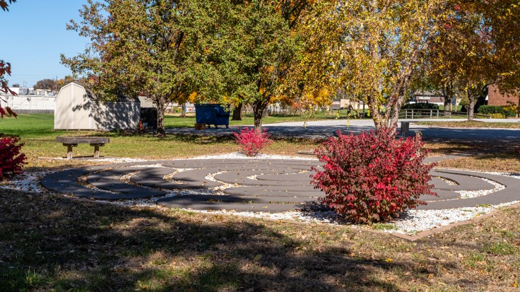 Prayer Labyrinth at Grace Episcopal Church, Liberty, Missouri. Image credit: Gary Allman