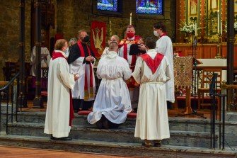 The Consecration of the Rev. Isaac Petty. The Ordination of Isaac Ross Petty to the Sacred Order of Priests at Grace and Holy Trinity Cathedral, Kansas City, Missouri. Image credit: Donna Field