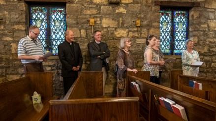 Rehearsal - Standing in line. St. Luke's Episcopal Church, Excelsior Springs, Missouri. Image credit: Gary Allman