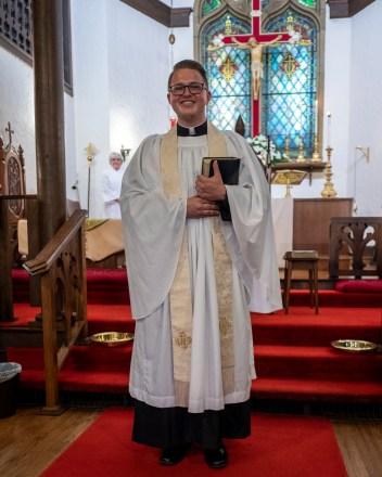 The Rev. Isaac Petty, Vicar of St. Luke's Episcopal Church, Excelsior Springs, Missouri Image credit: Gary Allman