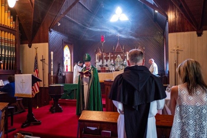 Opening prayer - The Installation of the Rev. James Harris as Priest in Charge, All Saints' Episcopal Church, West Plains, Missouri. Image credit: Gary Allman