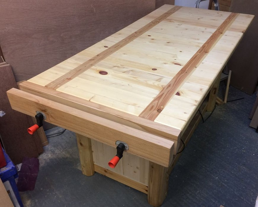 Homemade woodwork bench vise
