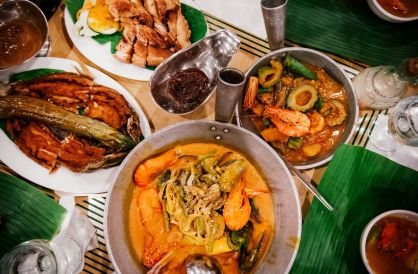 God's radical inclusion of all in Peter's vision of food (image of traditional Filipino dishes).