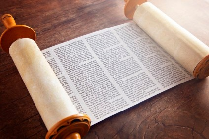 A Hebrew Torah scroll. Jesus read from a scroll of the prophet Isaiah, emphasizing that God puts people first.