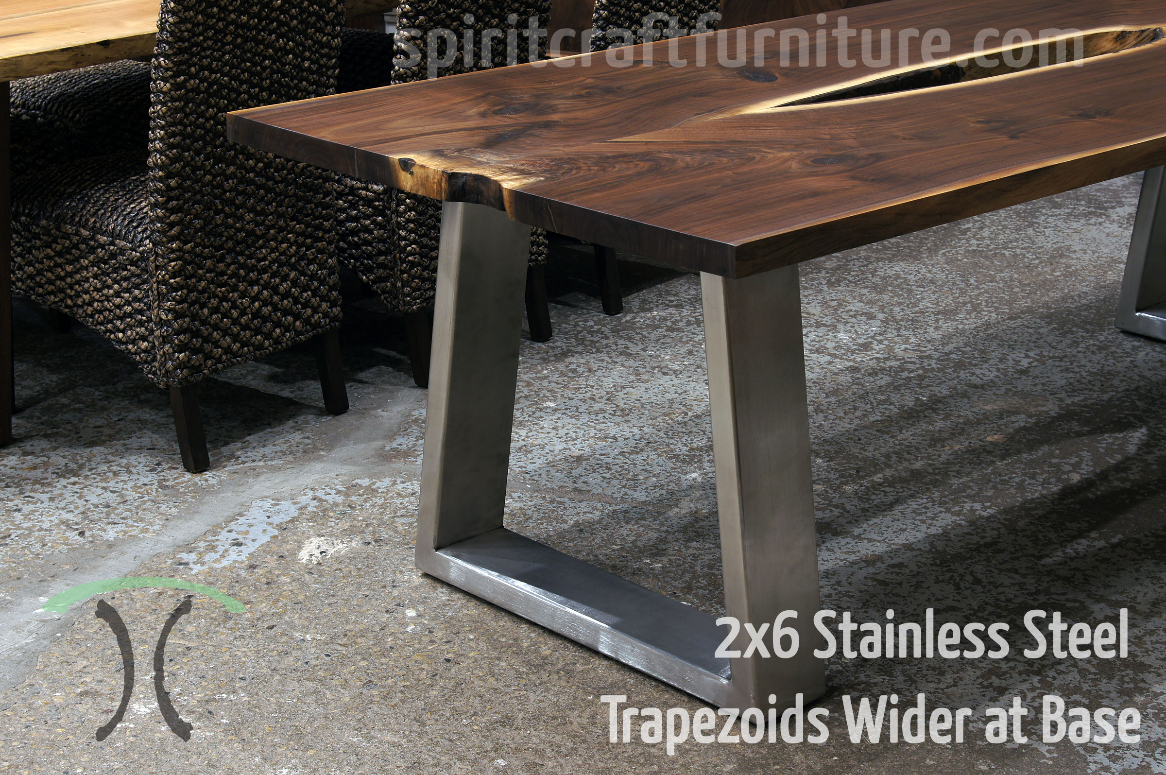 table legs and bases for hardwood slab