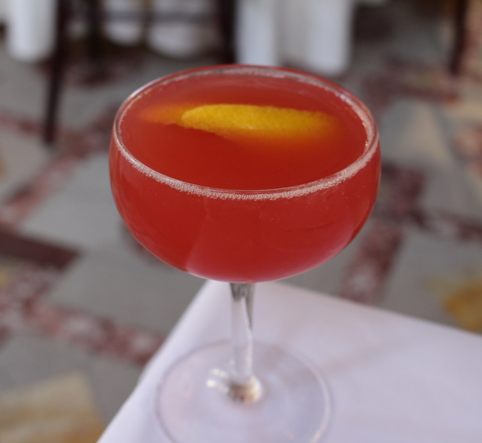 Blood orange bellini at The Dorrance with SpiritedLA
