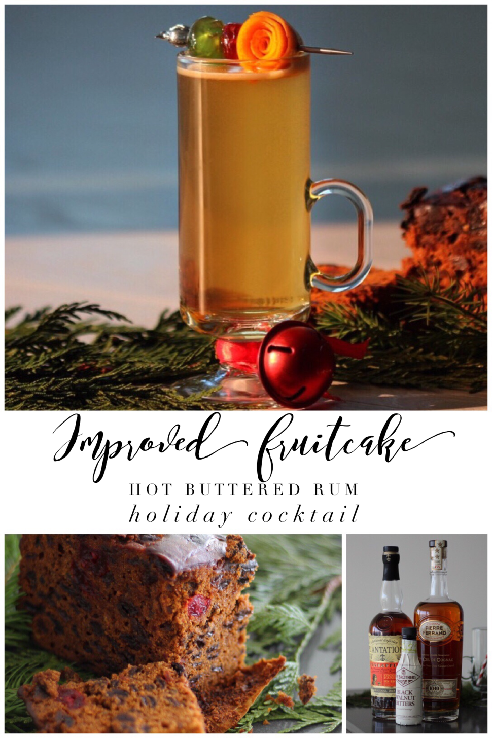 Improved Fruitcake Hot Buttered Rum Holiday Cocktail