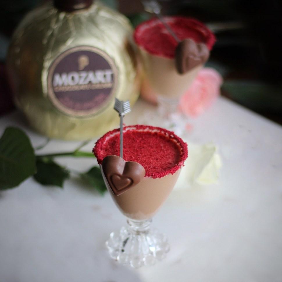 Mozart Chocolate Liqueur and SpiritedLA Valentine's Day Cocktail recipe